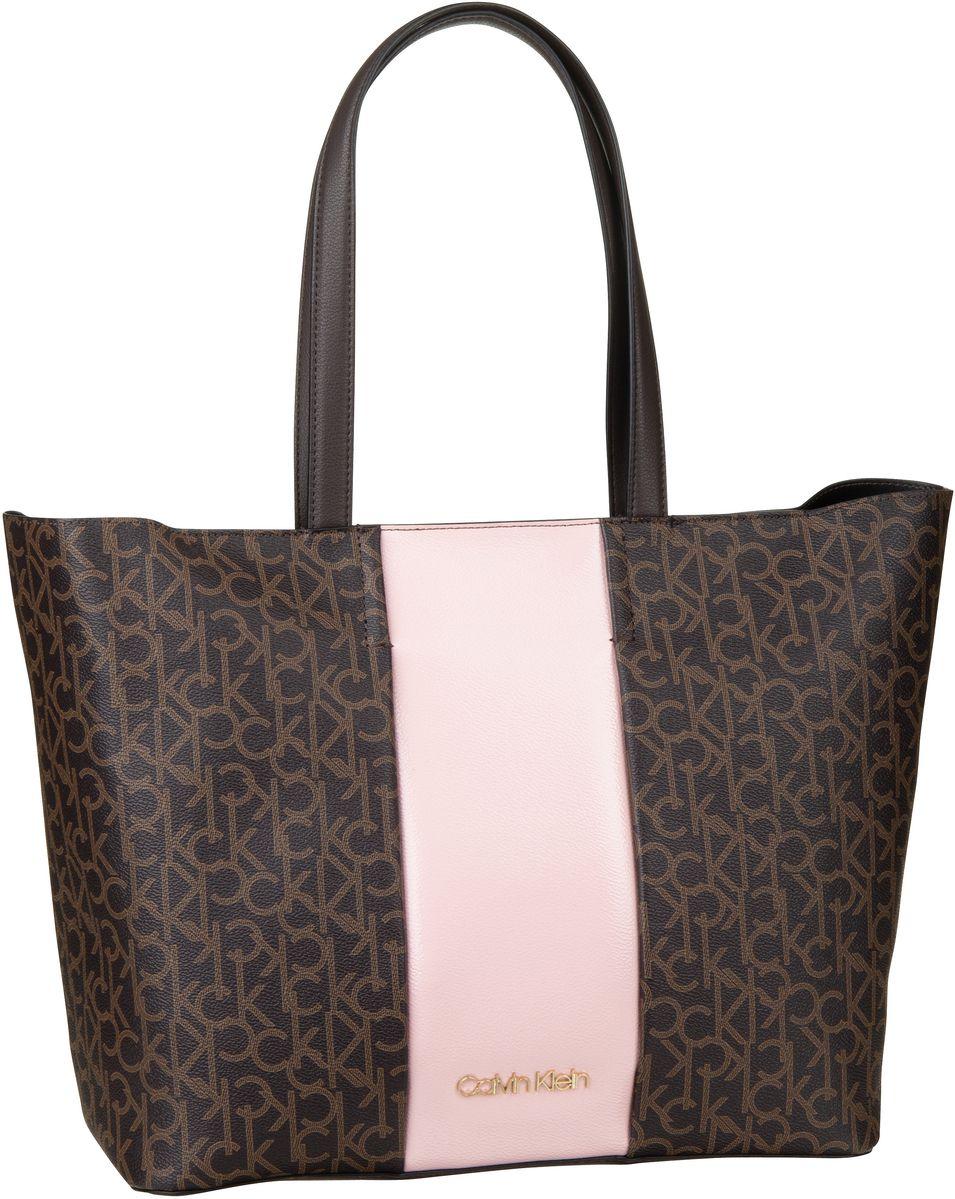 Handtasche Mono Block Shopper Brown Mono/Petal