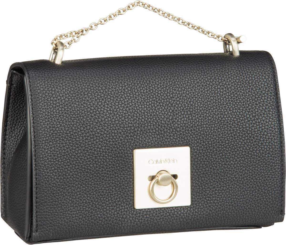 Handtasche CK Lock Medium Flap Crossbody Black