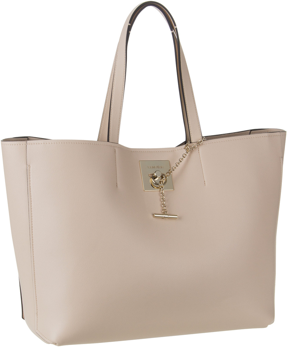 Handtasche CK Lock Shopper Light Sand