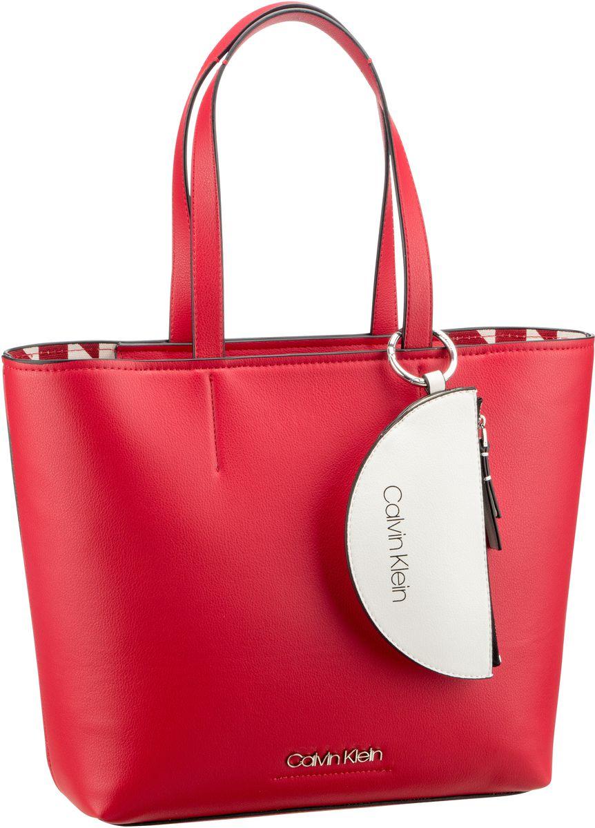 Handtasche CK Must Medium Shopper Lipstick Red