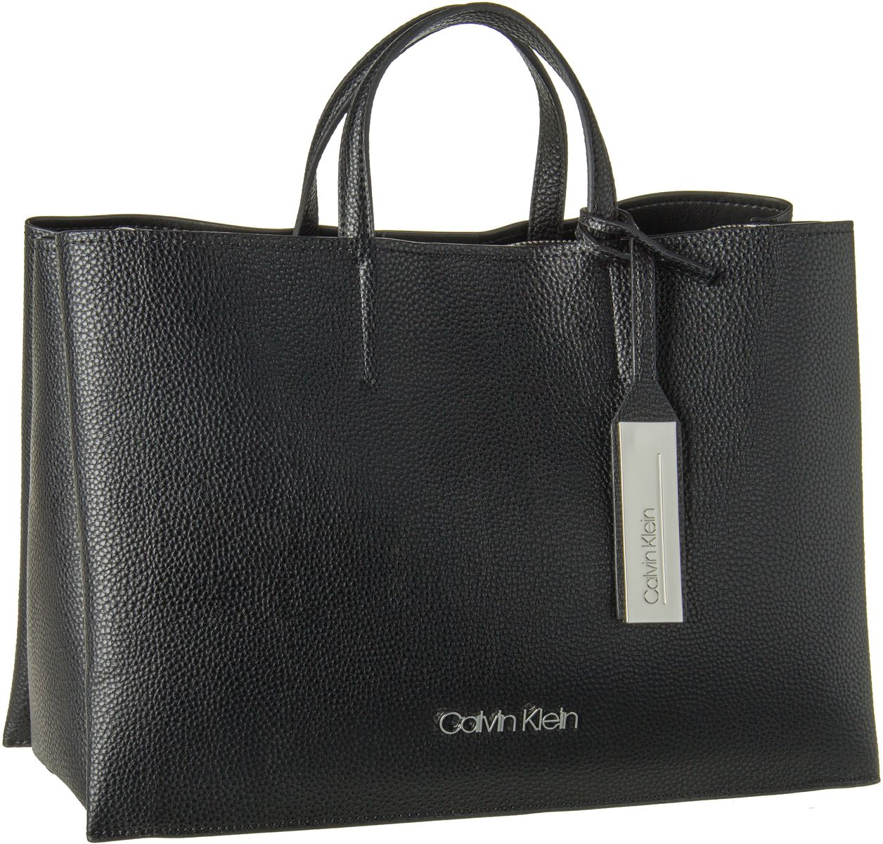 Calvin Klein Shopper Sided Large Tote Black