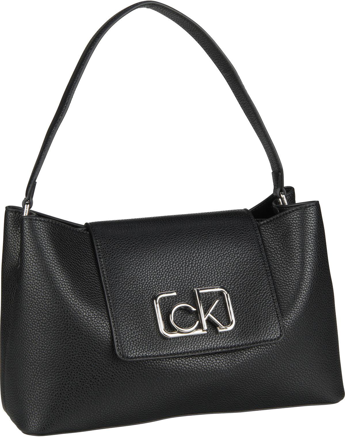 Handtasche CK Signature Top Handle MD Black