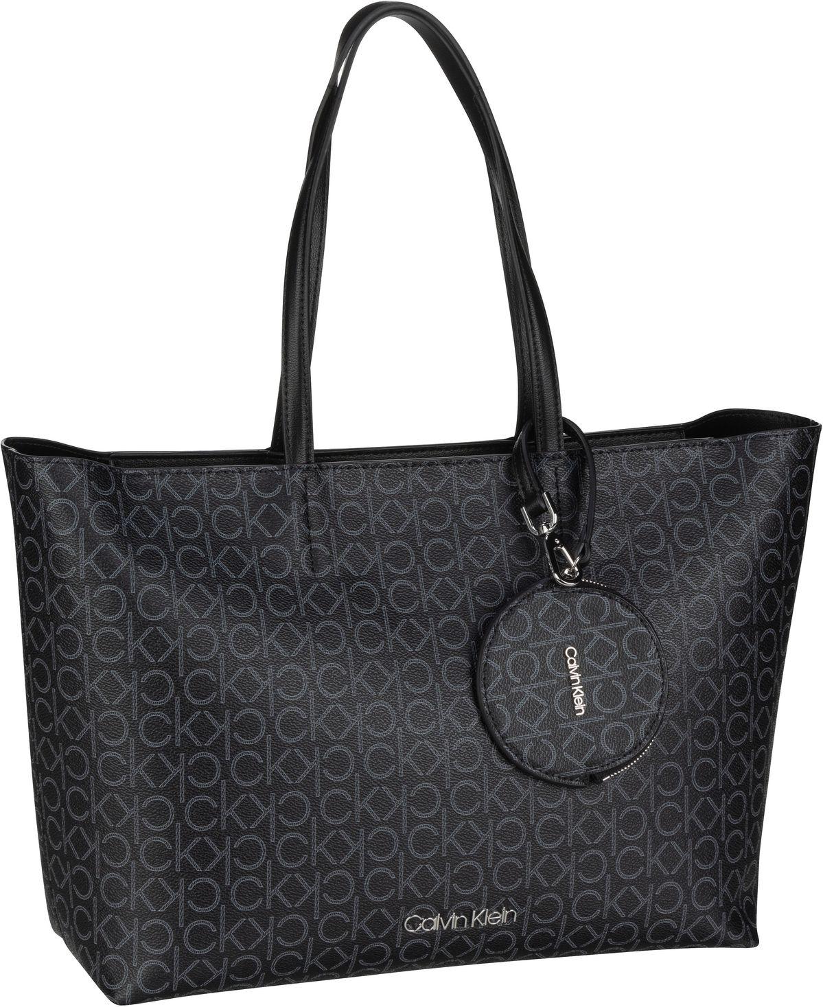 Handtasche CK Mono Shopper MD SP20 Black Mono Mix
