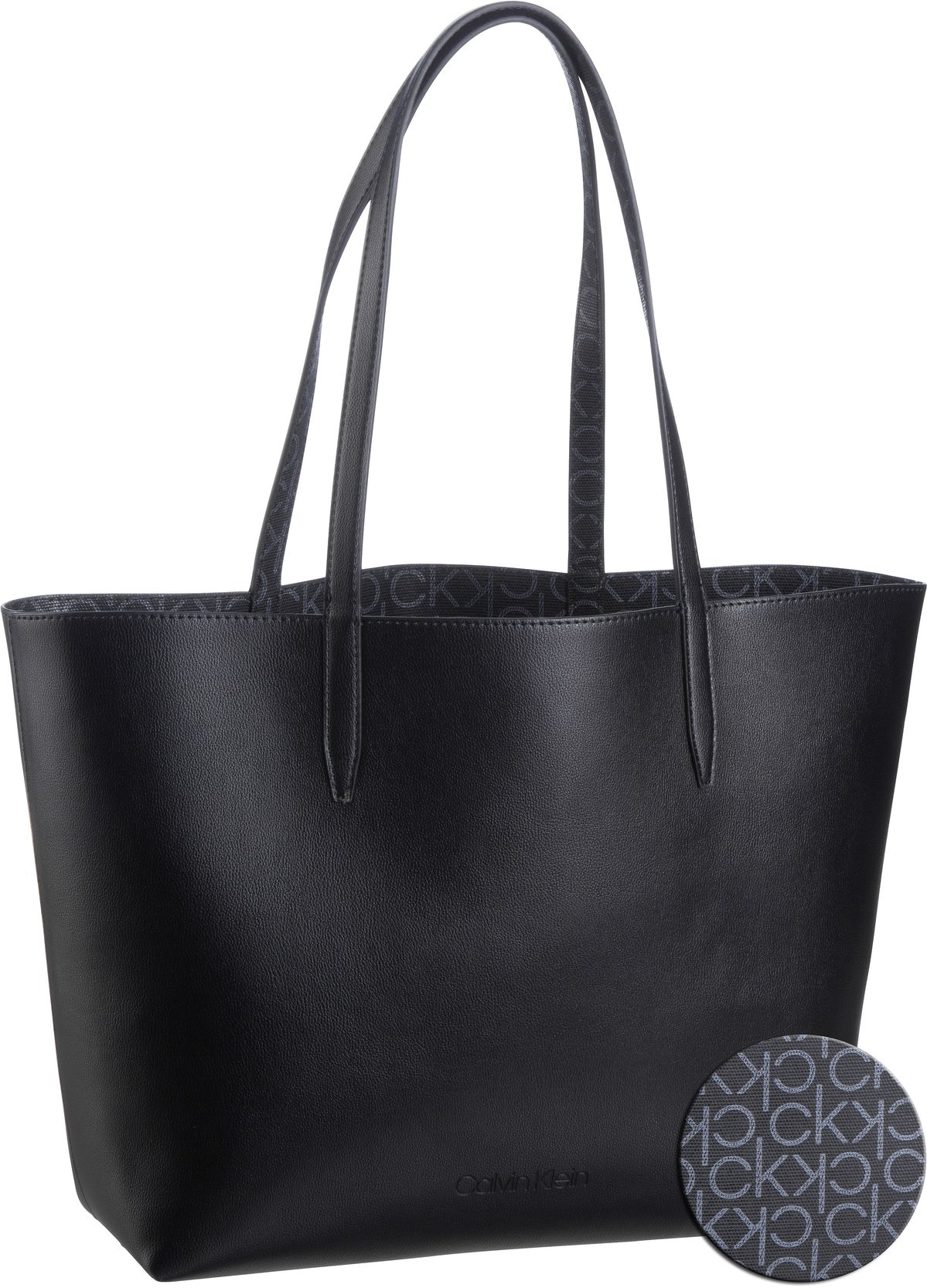 Handtasche CK Mono Shopper Rev MD SP20 Black Mono Mix