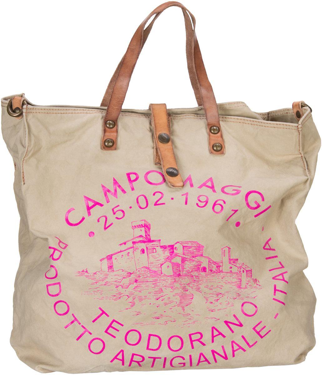 Handtasche Lambro Canvas Bag Beige/Stampa Fuxia