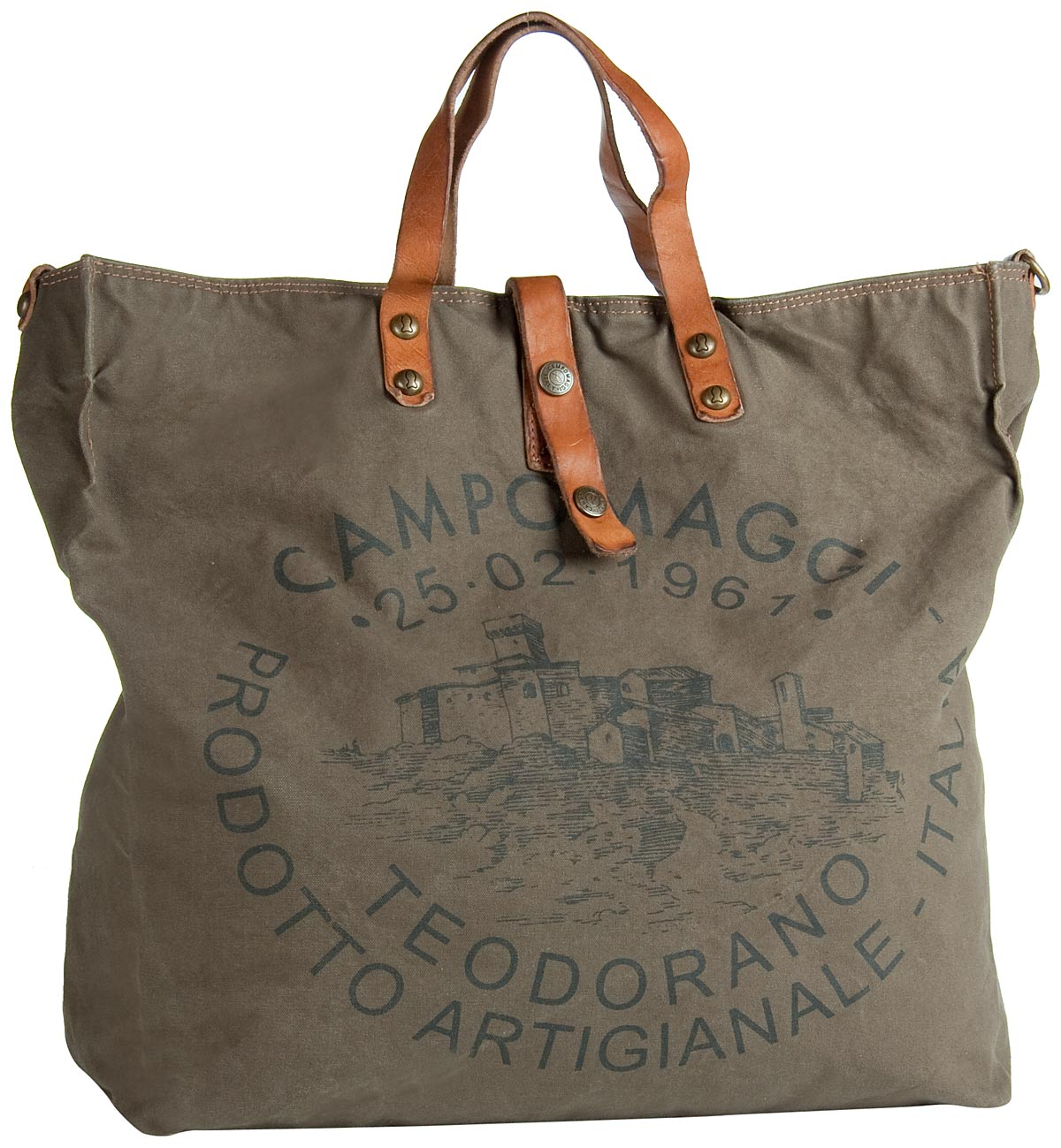 Handtasche Lambro Canvas Bag Militare/Naturale