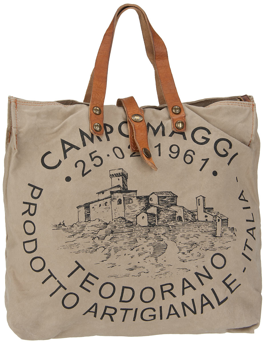 Handtasche Lambro Canvas Bag Small Beige/Naturale