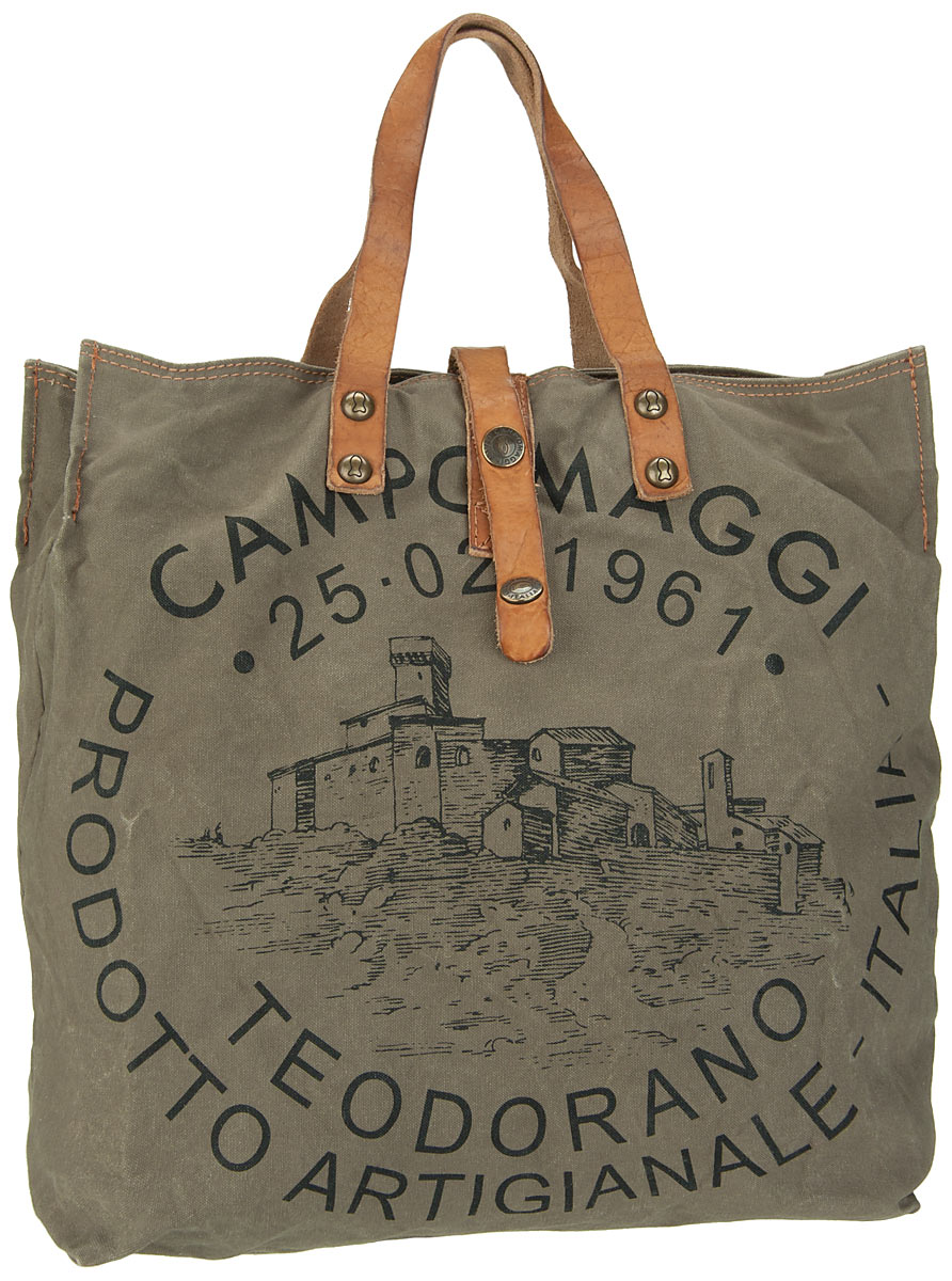 Handtasche Lambro Canvas Bag Small Militare/Naturale