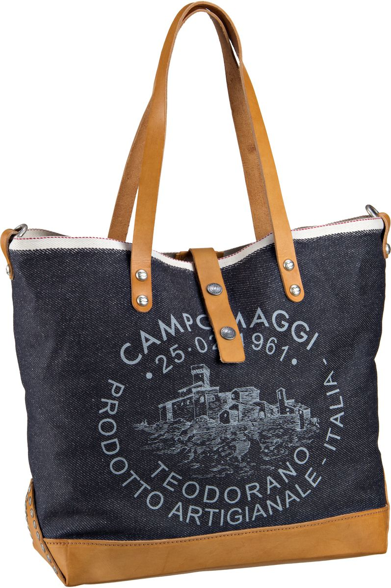 Handtasche Genziana C6310 Jeans Blu/Grigio+Naturale
