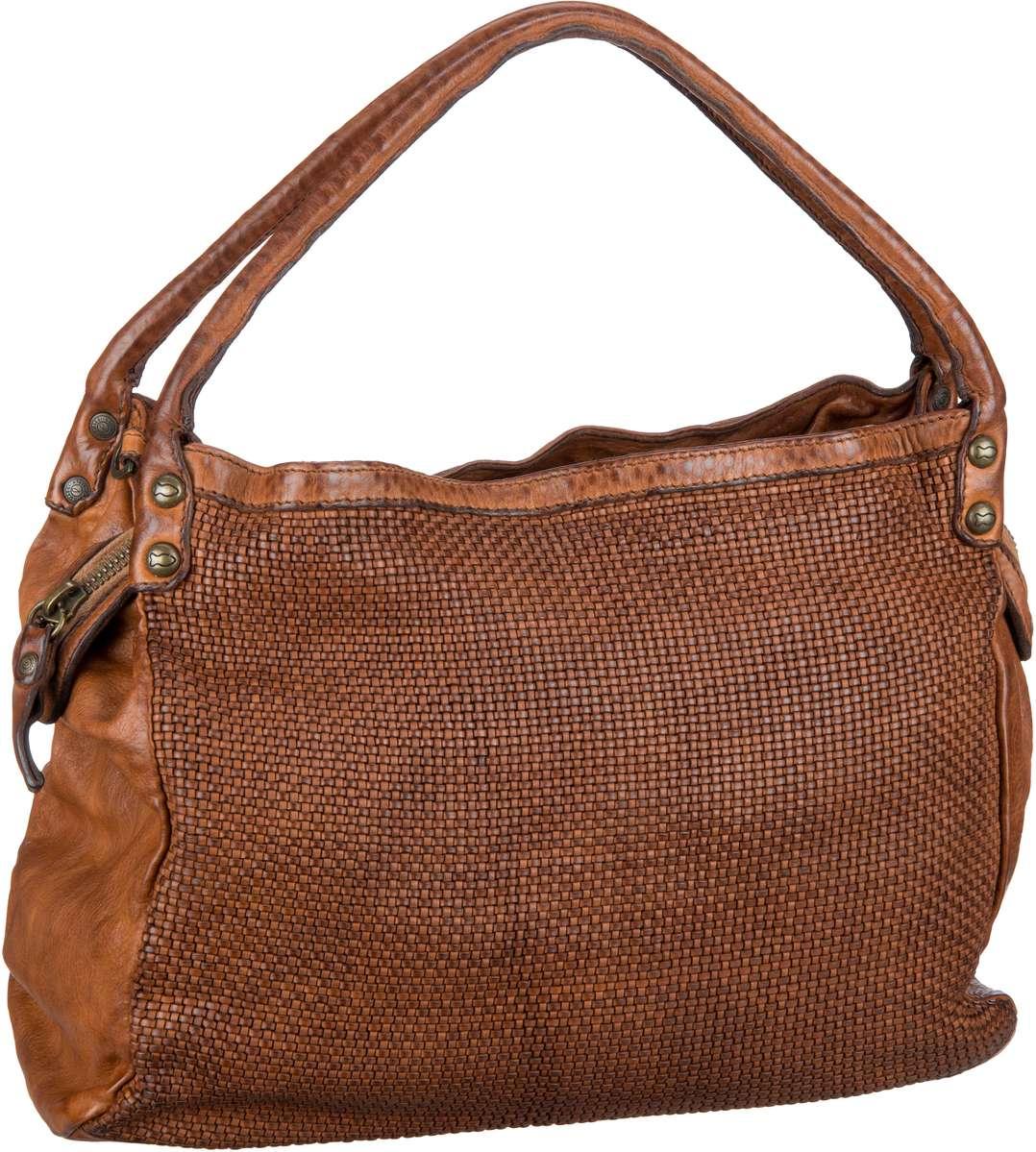 Handtasche Woven C6760 Cognac