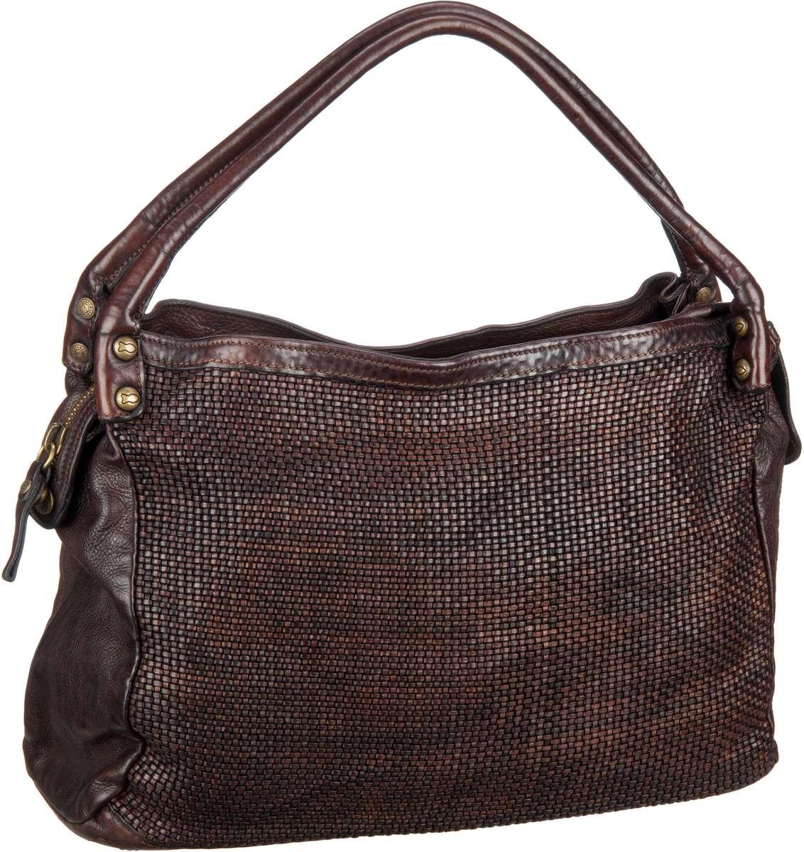 Handtaschen für Frauen - Campomaggi Handtasche Woven C6760 Moro  - Onlineshop Taschenkaufhaus