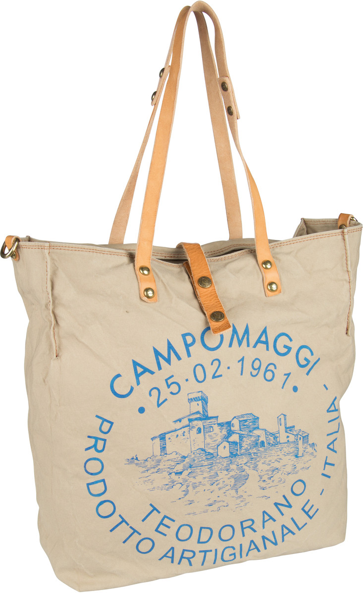 Handtasche Shopper C1661 Teodorano Beige/Naturale/Stampa Blu