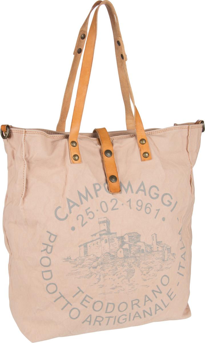 Handtasche Shopper C1661 Teodorano Cipria/Naturale/Stampa Grigia