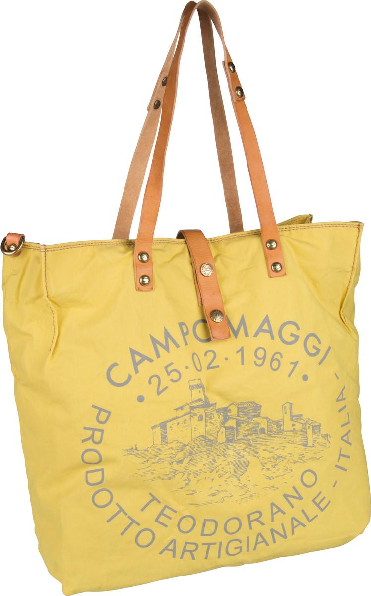 Handtasche Shopper C1661 Teodorano Giallo/Naturale/Stampa Grigia