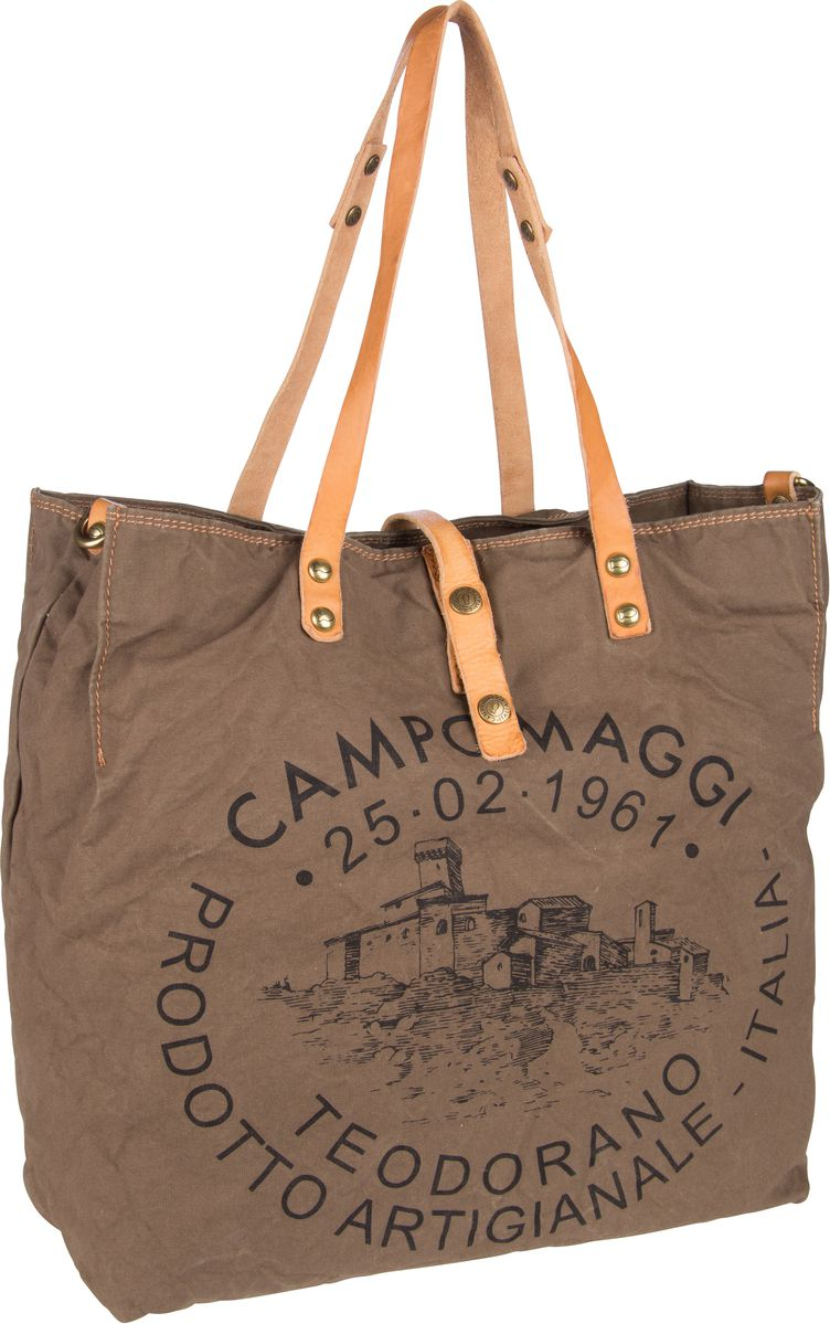 Handtasche Shopper C1661 Teodorano Verde Militare/Naturale/Stampa