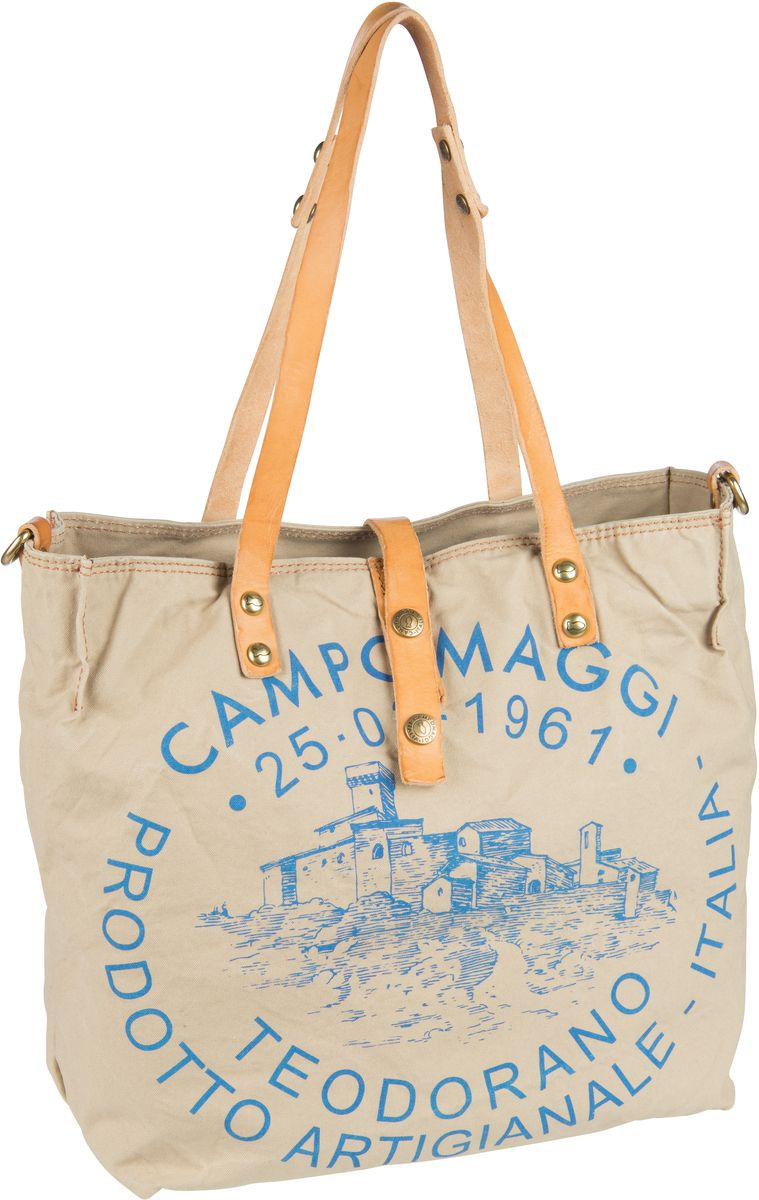 Handtasche Shopper C1671 Teodorano Beige/Naturale/Stampa Blu