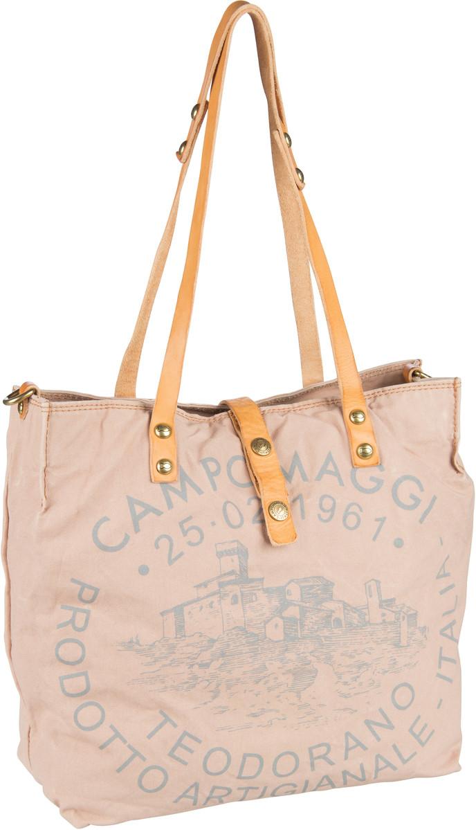 Handtasche Shopper C1671 Teodorano Cipria/Naturale/Stampa Grigia