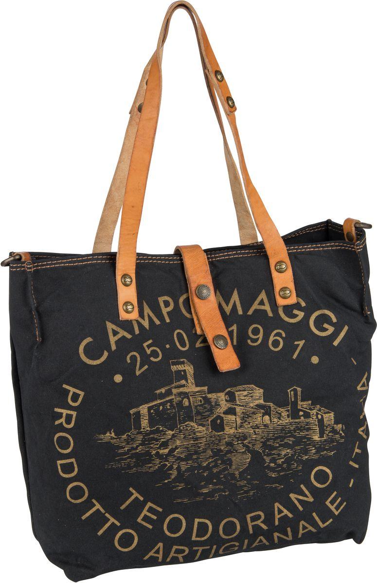 Handtasche Shopper C1671 Teodorano Nero/Naturale/Stampa Oro