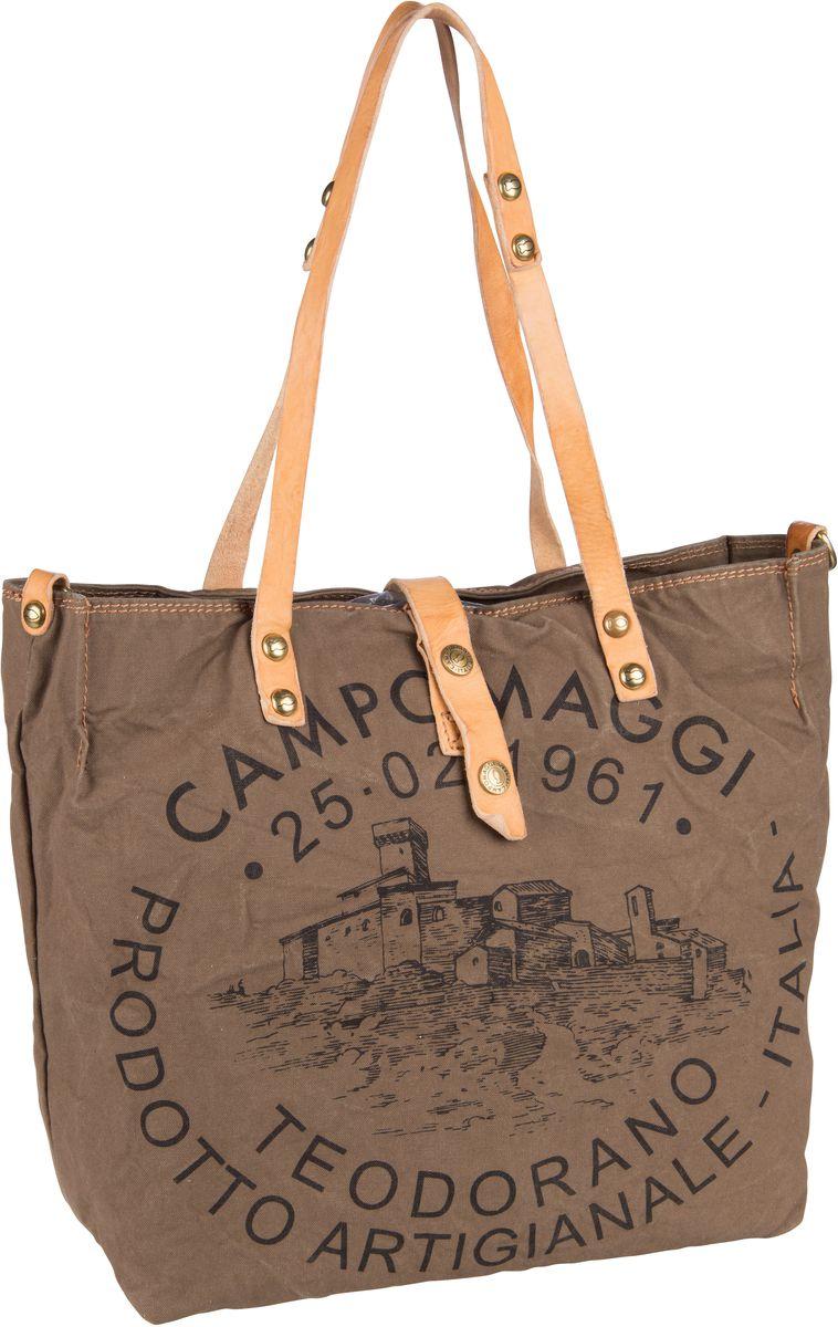Handtasche Shopper C1671 Teodorano Verde Militare/Naturale/Stampa