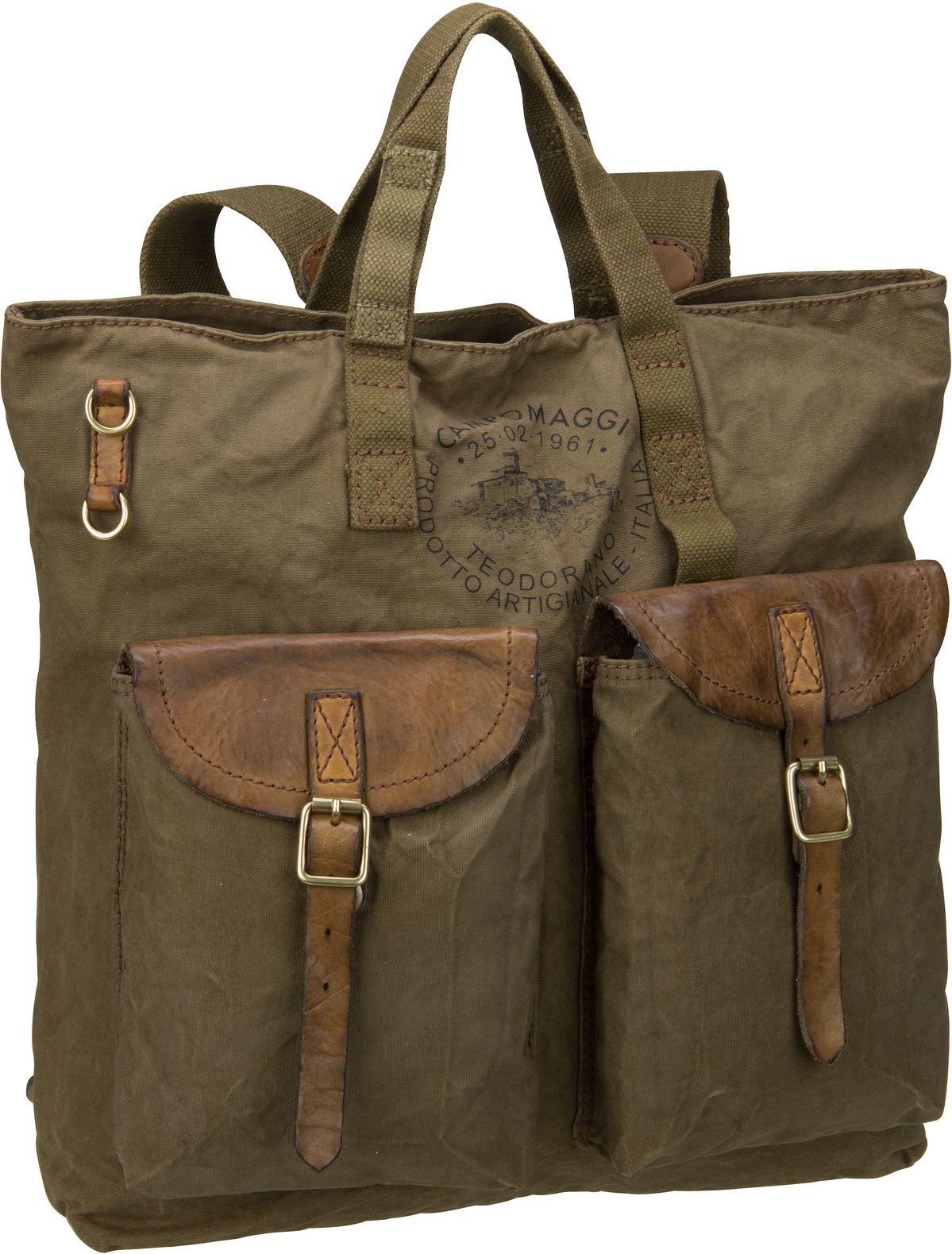 Rucksack / Daypack Ermes C17670 Militare/Militare/Stampa Nera