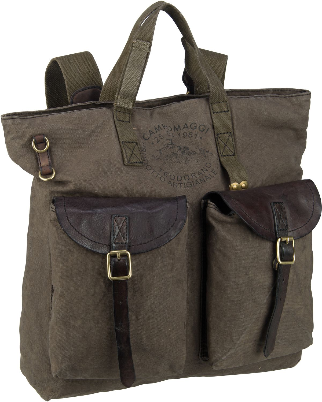 Rucksack / Daypack Ermes C17670 Militare/Grigio/Stampa Nera