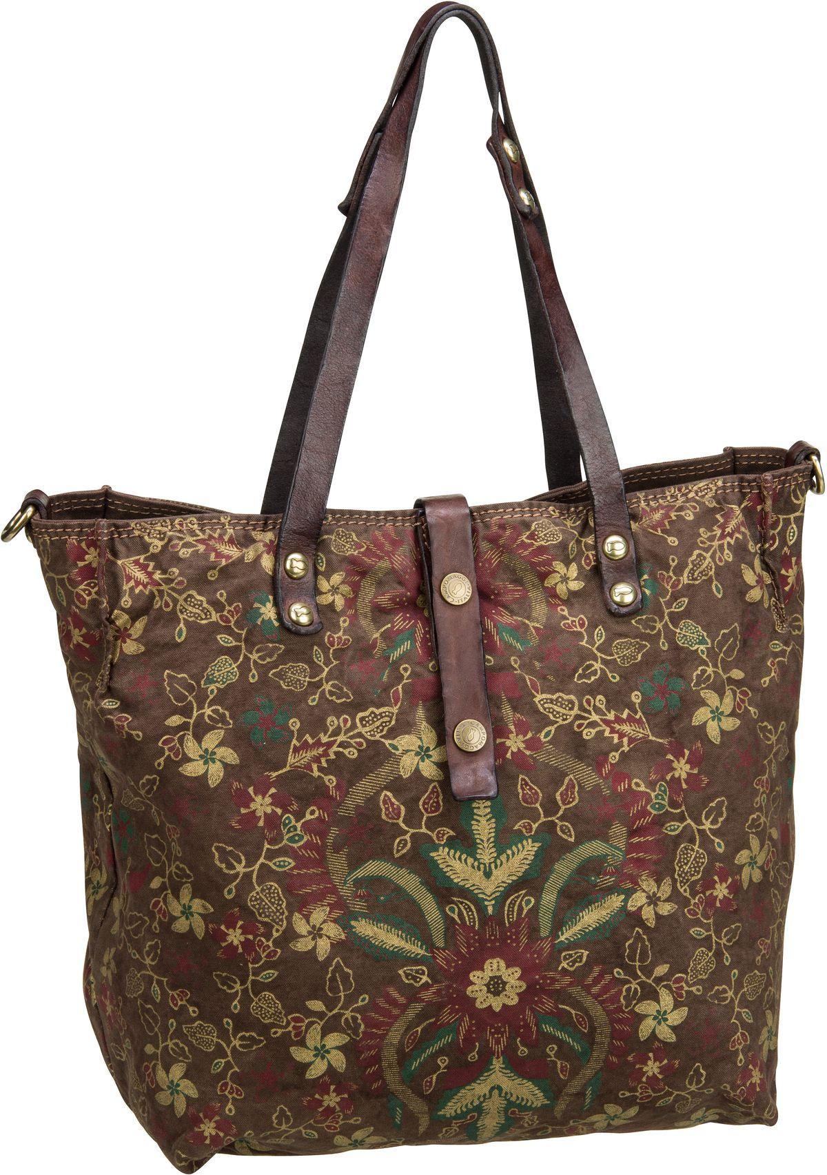 Shopper für Frauen - Campomaggi Shopper Genziana C1671 Verde Militare Moro  - Onlineshop Taschenkaufhaus