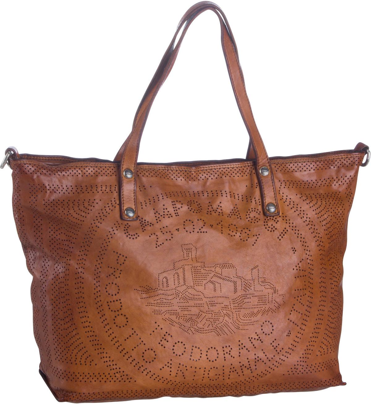 Shopper - Campomaggi Shopper Cala Rossa C0290 Cognac  - Onlineshop Taschenkaufhaus
