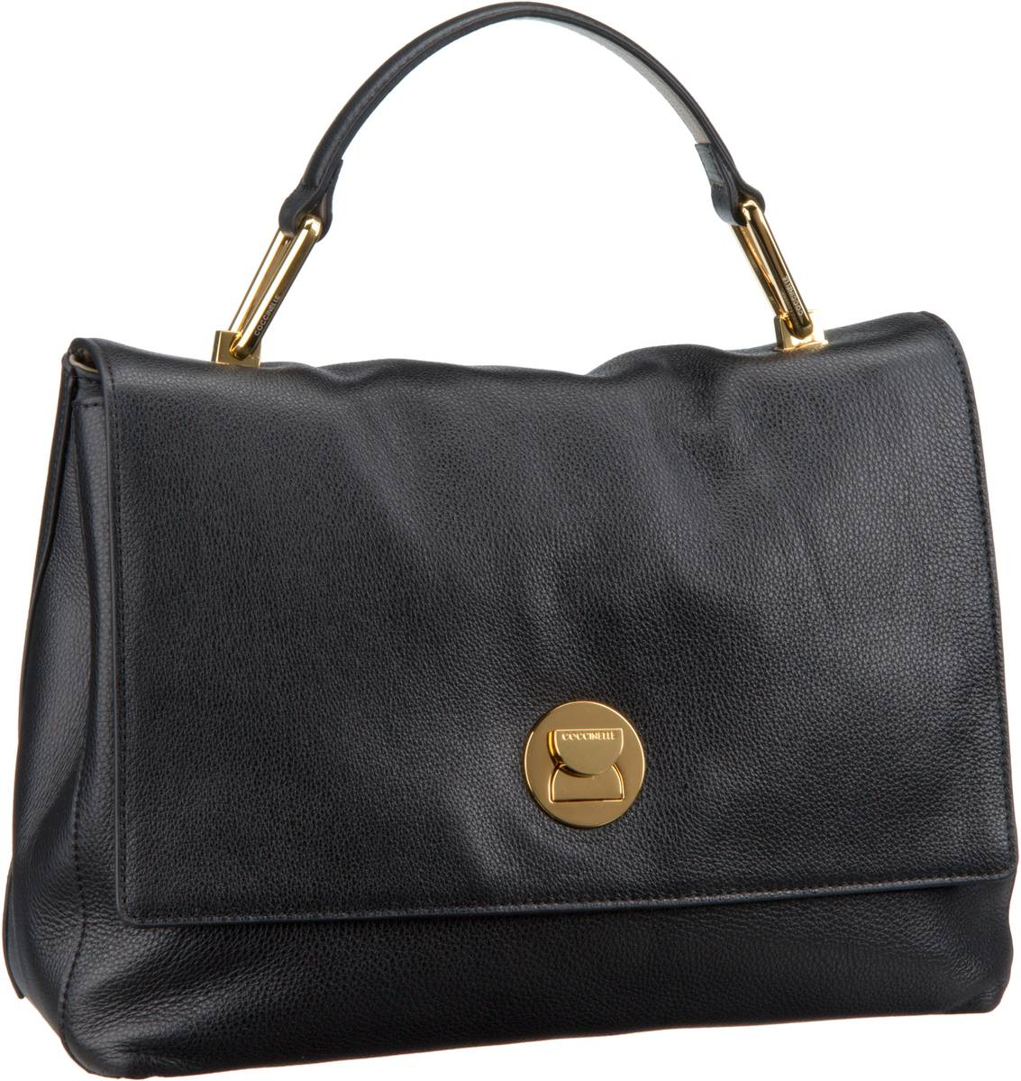 Handtasche Liya 1801 Noir (innen: Lachsfarben)