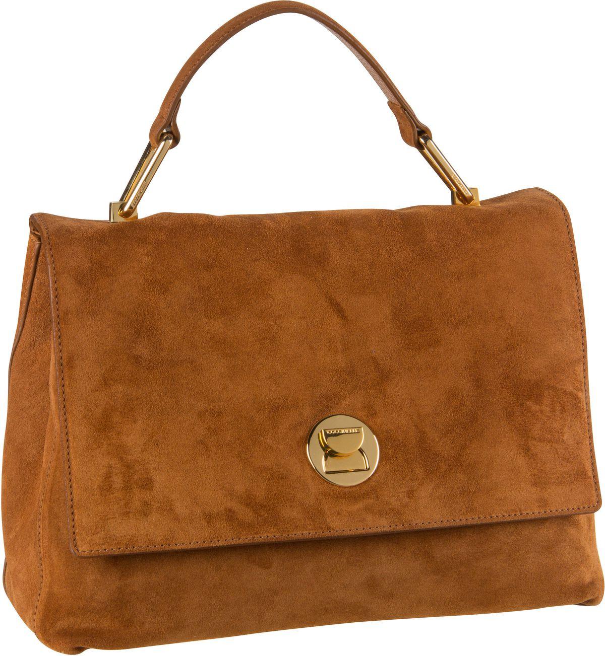 Handtasche Liya Suede 1801 Caramel
