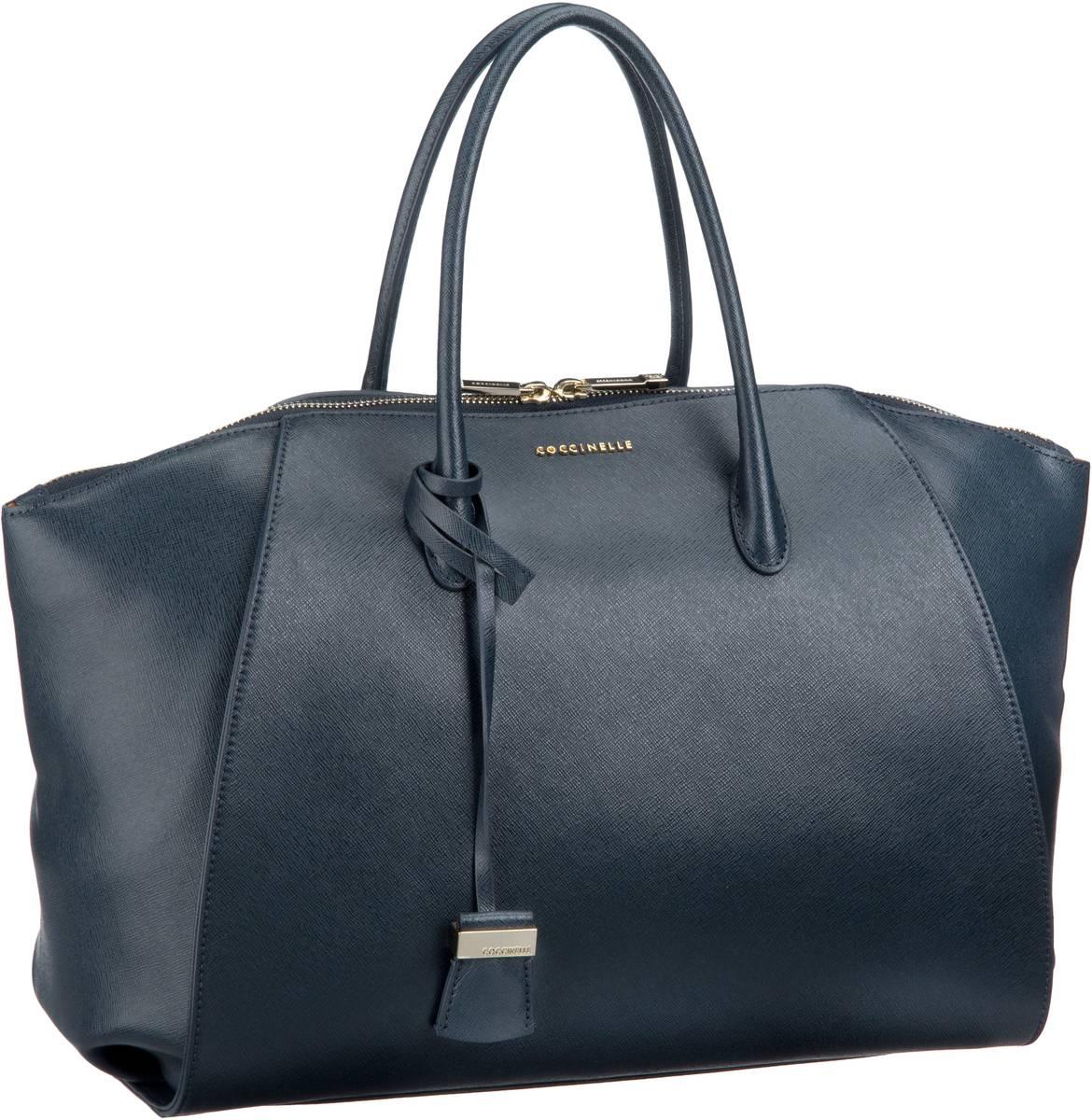 Lou 1801 Blu (innen: Orange) Handtasche