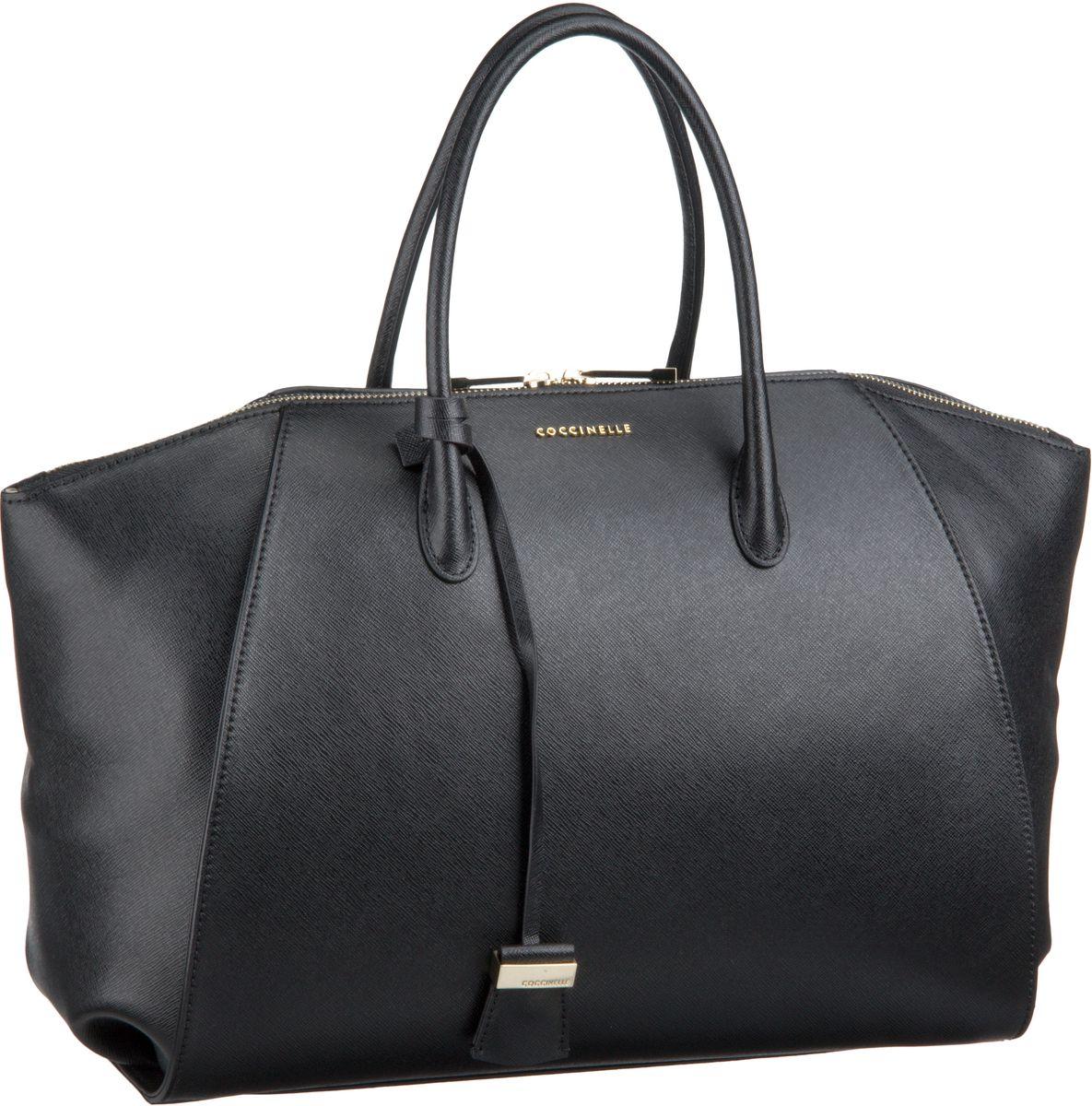 Lou 1801 Nero (innen: Beige) Handtasche