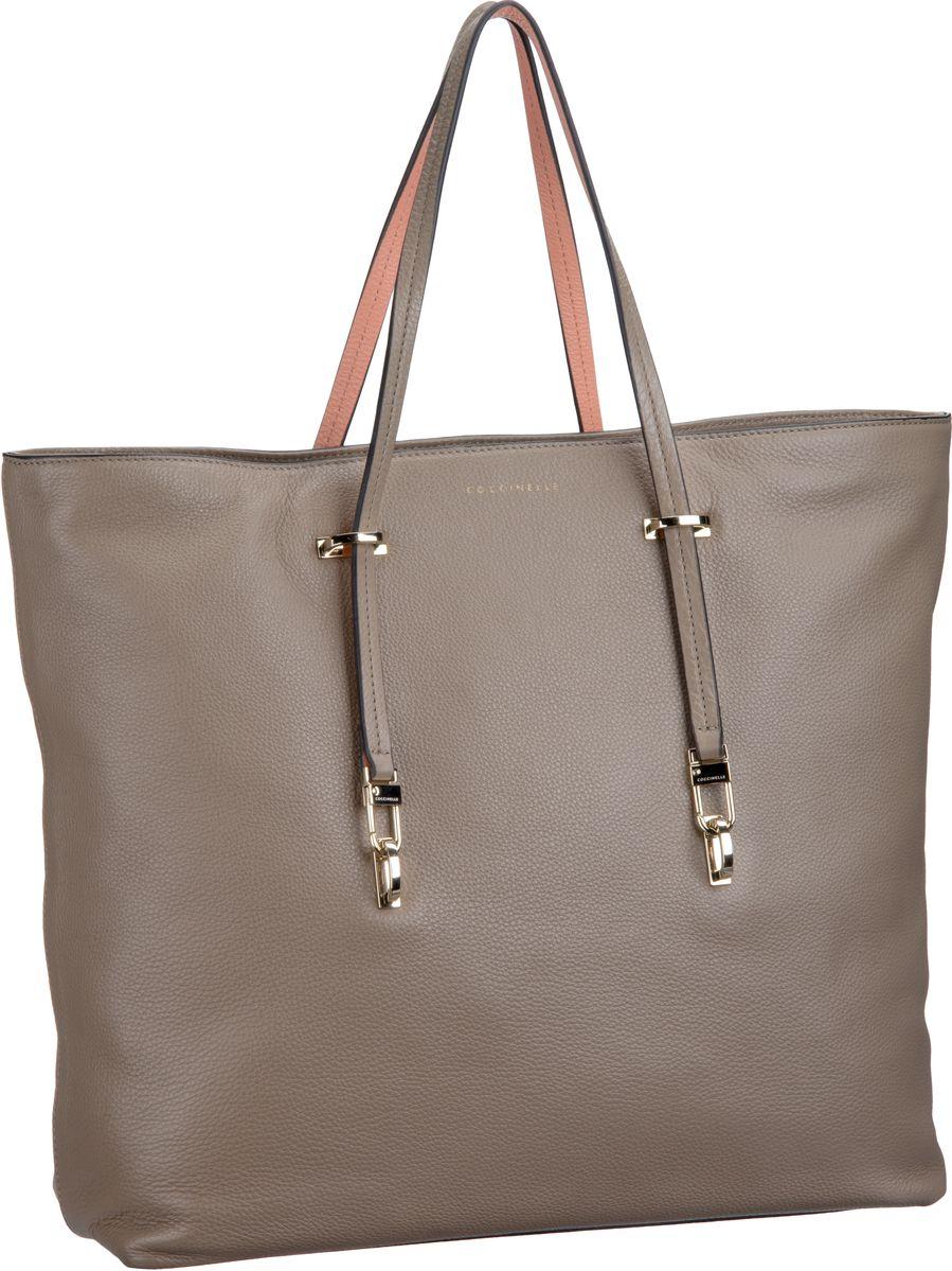 Iggy 1101 Taupe/Pompelmo (innen: Orange) Handtasche