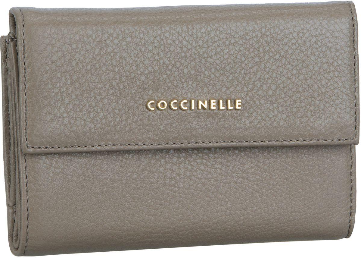 Coccinelle Metallic Soft 1166 Taupe - Geldbörse