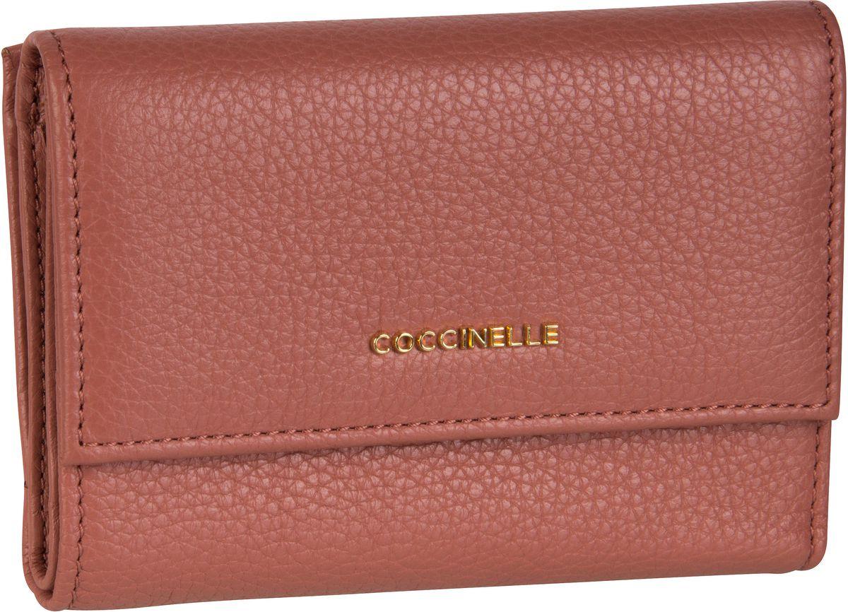 Geldboersen für Frauen - Coccinelle Geldbörse Metallic Soft 1166 Mars Dust  - Onlineshop Taschenkaufhaus