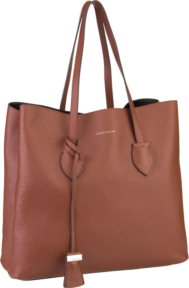 Handtaschen für Frauen - Coccinelle Handtasche Celene 1101 Brulé Nero  - Onlineshop Taschenkaufhaus