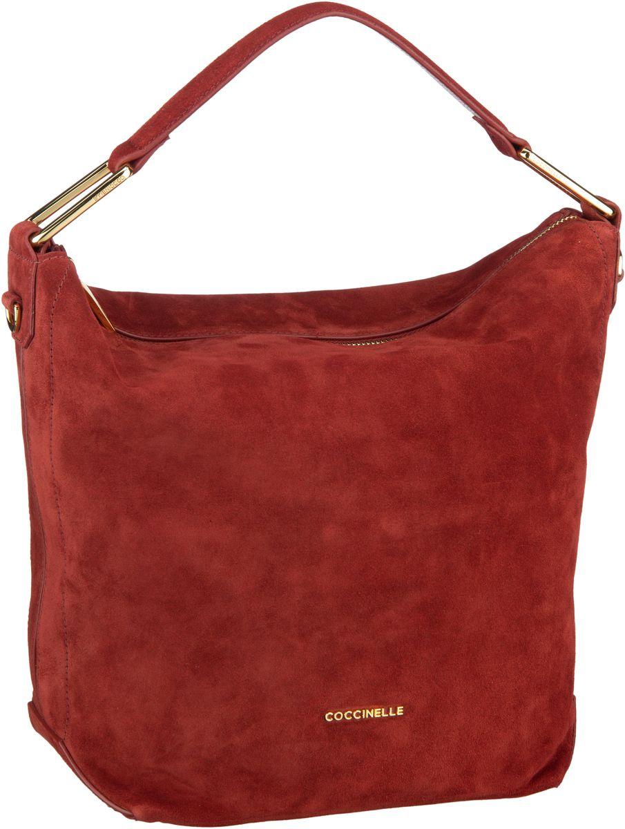 Handtaschen für Frauen - Coccinelle Handtasche Liya Suede 1301 Bourgogne  - Onlineshop Taschenkaufhaus