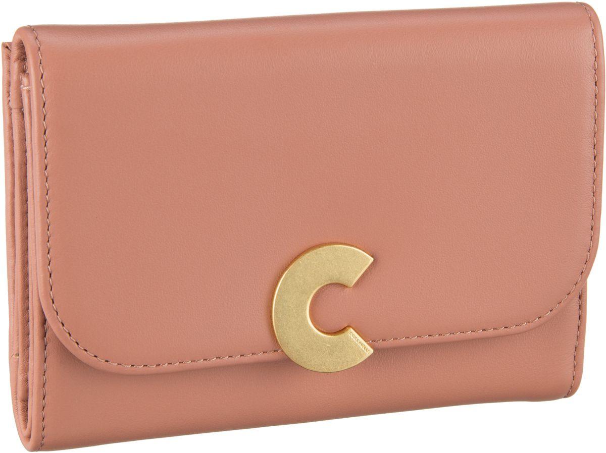 Geldboersen für Frauen - Coccinelle Geldbörse Craquante Smooth 1166 Argile  - Onlineshop Taschenkaufhaus