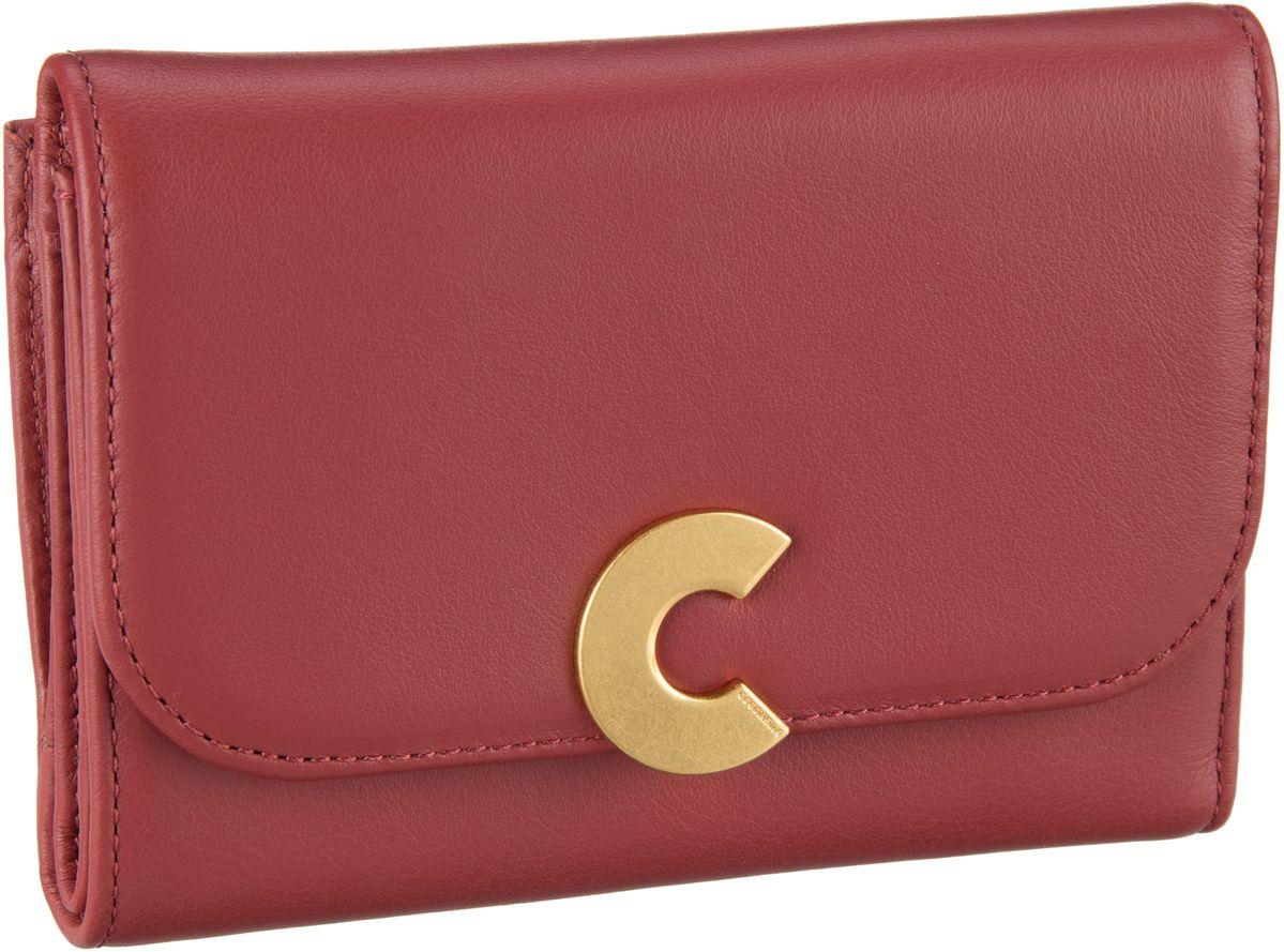 Geldboersen für Frauen - Coccinelle Geldbörse Craquante Smooth 1166 Bourgogne  - Onlineshop Taschenkaufhaus