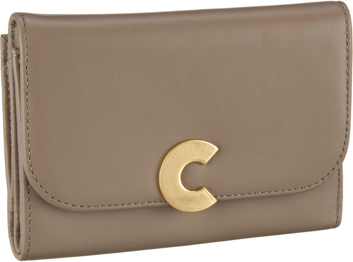 Geldboersen für Frauen - Coccinelle Geldbörse Craquante Smooth 1166 Taupe  - Onlineshop Taschenkaufhaus
