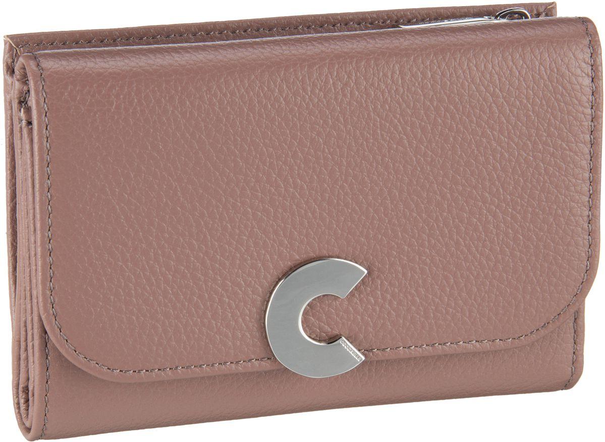 Geldboersen für Frauen - Coccinelle Geldbörse Craquante 1166 Dark Pivione  - Onlineshop Taschenkaufhaus