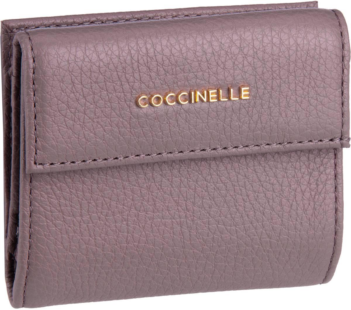 Coccinelle Geldbörse Metallic Soft 1187 Dark Pivione