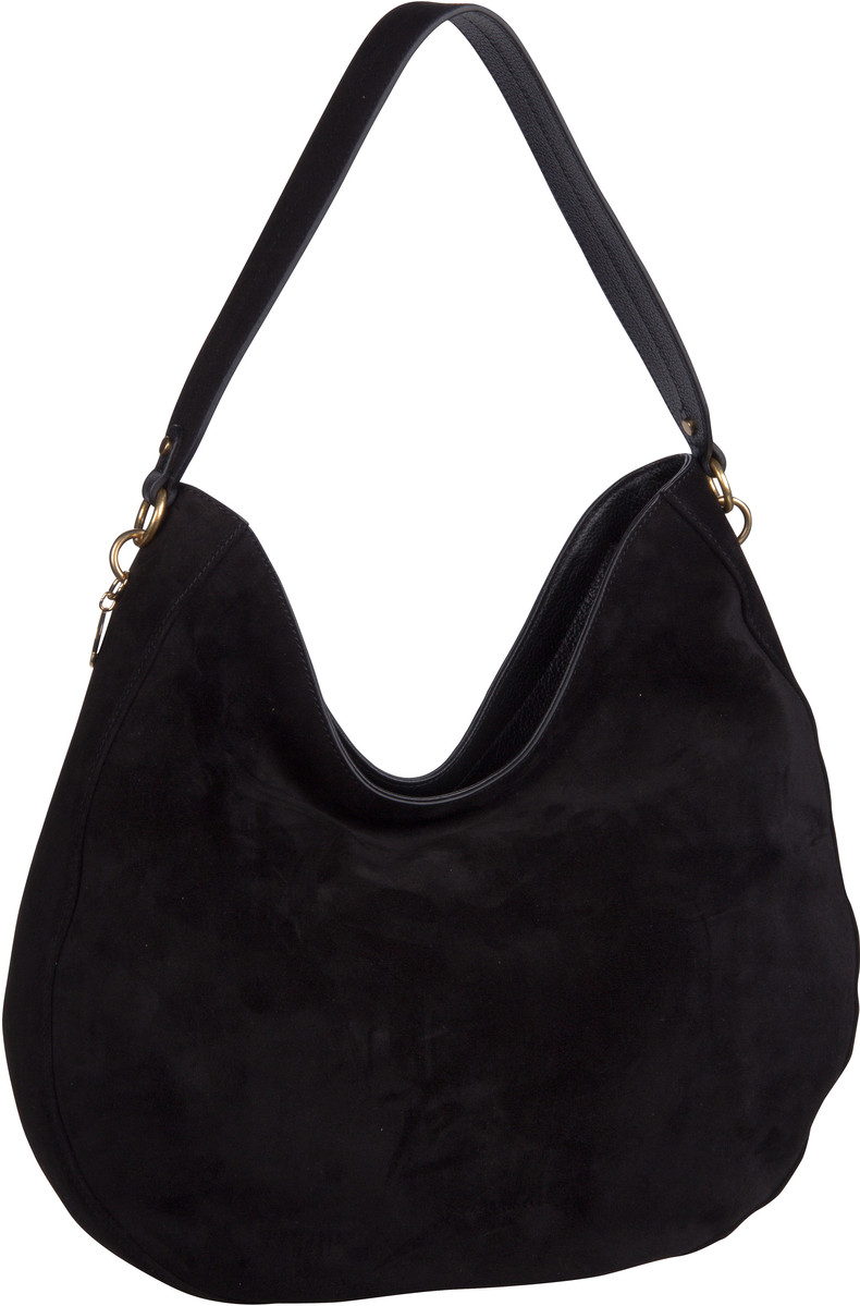 Handtasche Alpha Suede 1301 Noir