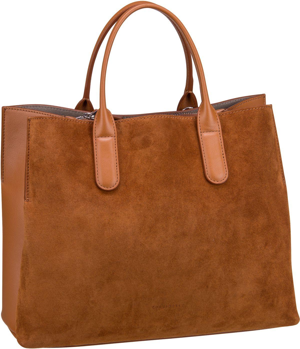 Handtasche Sandy Bimaterial 1801 Caramel