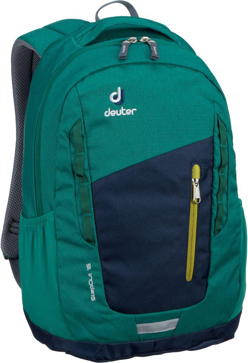 Rucksaecke für Frauen - Deuter Rucksack Daypack Step Out 16 Navy Alpinegreen (16 Liter)  - Onlineshop Taschenkaufhaus