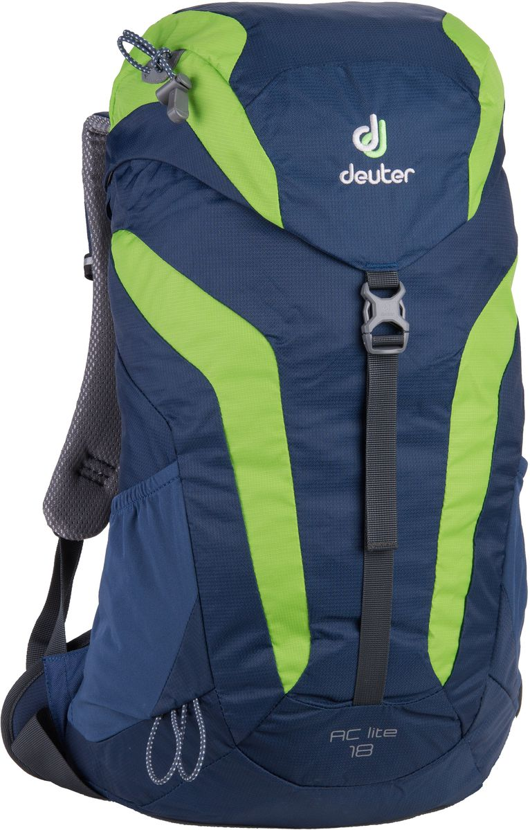 Image of Deuter AC Lite 18 - Tages Wanderrucksack - midnight blue/kiwi