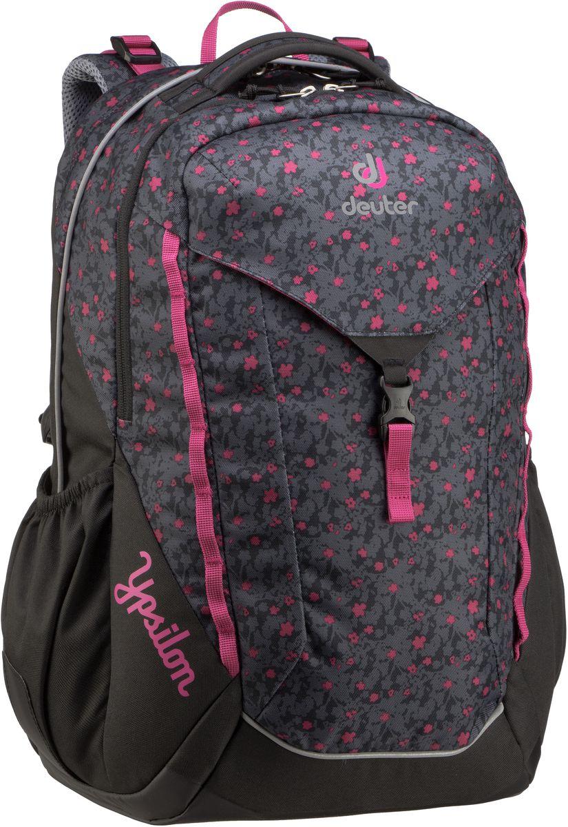 Rucksack / Daypack Ypsilon Black Flora (innen: Pink) (28 Liter)