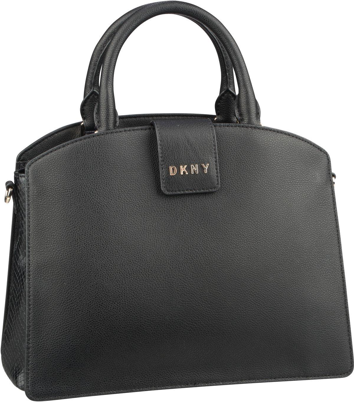 Handtasche Clara Pebble Medium Satchel Black/Gold