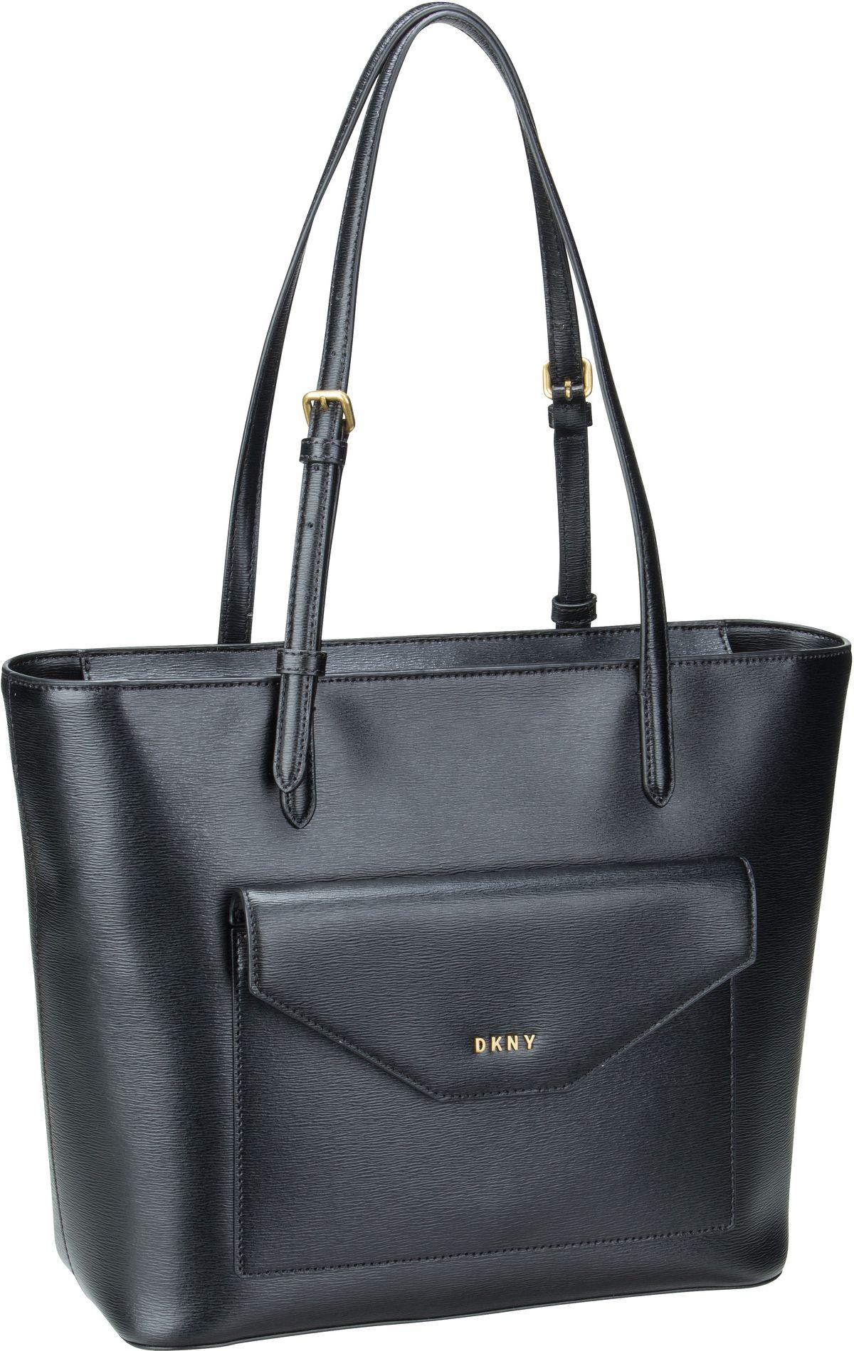 Shopper - DKNY Shopper Alexa Sutton Tote Black Gold  - Onlineshop Taschenkaufhaus