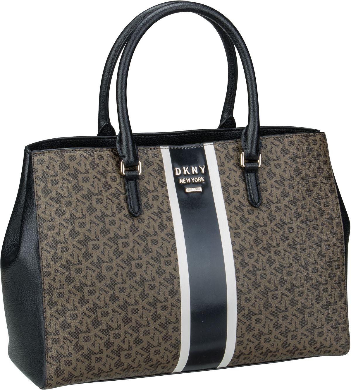 Shopper Whitney Logo Stripe EW Tote Mocha/Black