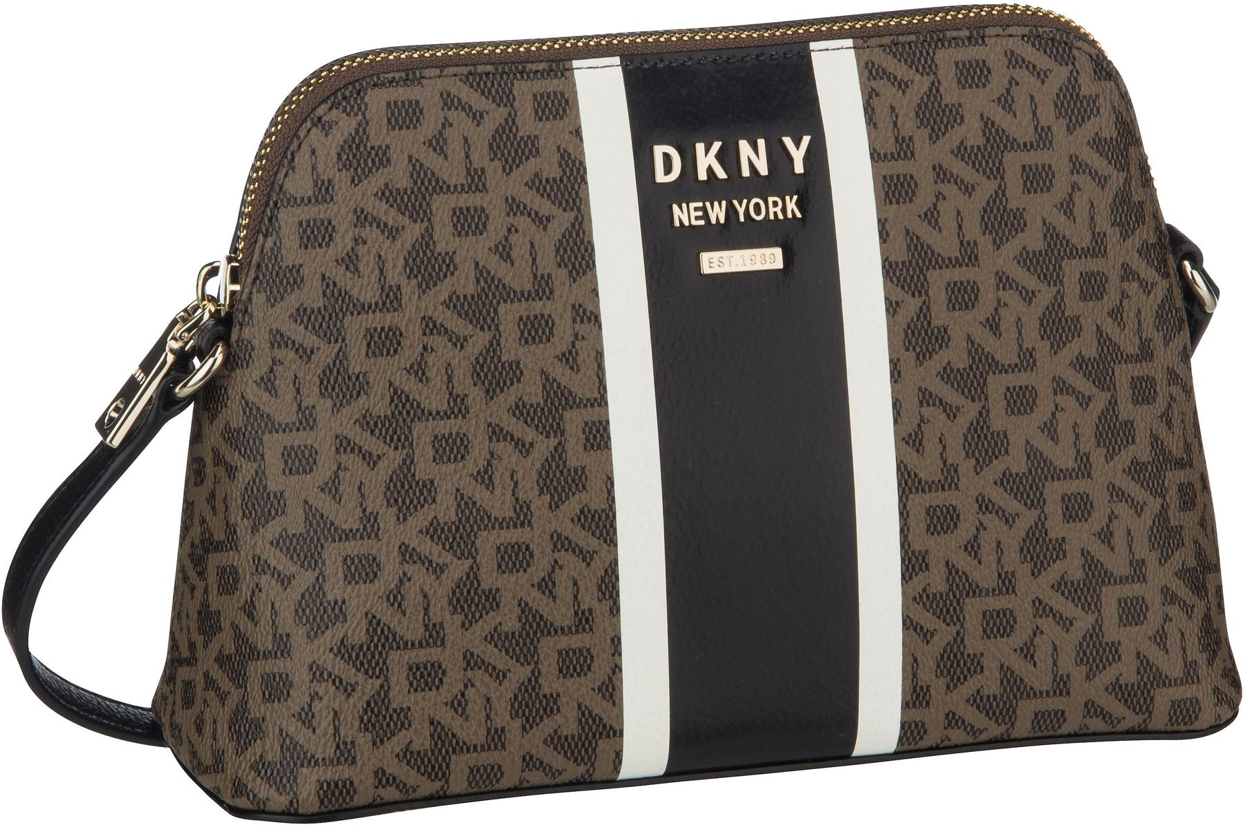 Umhängetasche Whitney Logo Stripe Dome Crossbody Mocha/Black